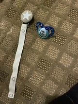 Velvet Star pacifier clip With Snap and I Love Zzzz's Blue pacifier - $8.60