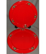 Set (2) Waechtersbach CHRISTMAS TREE PATTERN Service Plates or Chargers - $89.09