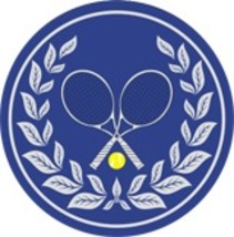 """4"""" Tennis Crossed Racquet Thick Rubber Coaster 4pc/pack - Blue - $15.99"""