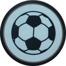 "4"" Soccer Ball Thick Rubber Coaster 4pc/pack - $13.99"