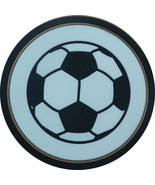 """4"""" Soccer Ball Thick Rubber Coaster 4pc/pack - $13.99"""
