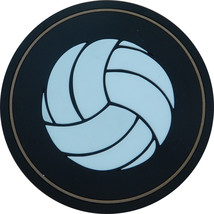 "4"" Volleyball Thick Rubber Coaster 4pc/pack - Black - $15.99"
