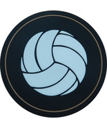 """4"""" Volleyball Thick Rubber Coaster 4pc/pack - Black - $15.99"""