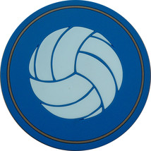"4"" Volleyball Thick Rubber Coaster 4pc/pack - Blue - $15.99"
