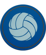 """4"""" Volleyball Thick Rubber Coaster 4pc/pack - Blue - $15.99"""