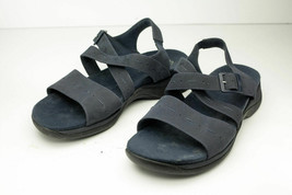 Clarks US 7.5 Wide Blue Sandals - $9.99