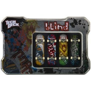 TECH DECK BLIND TIN BOX 4 PACK FINGERBOARDS MINI SKATEBOARDS
