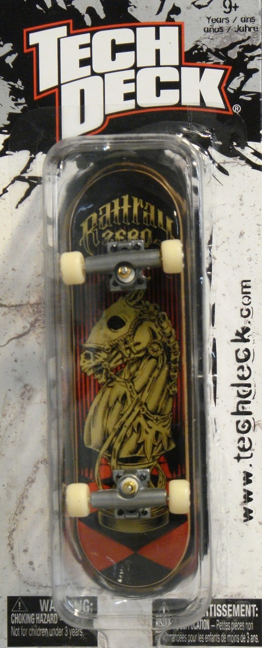 TECH DECK CHECKLANE JOHN RATTRAY ZERO KNIGHT OLD SCHOOL FINGERBOARD SKATEBOARD