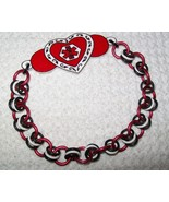 Custom Double Sided Heart Felt Medical Alert Bracelet - $18.00