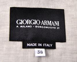 Giorgio Armani Black Label Raise Stripe Silver Grey Jacket Womens 38 Italy image 10