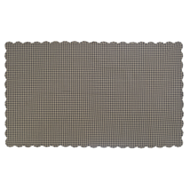 BLACK CHECK Scalloped Table Cloth - 60x102 - Raven and Khaki  -VHC Brands