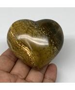 "185.2g, 2.4""x2.6""x1.4"" Ocean Jasper Heart Polished Healing Crystal, B4925 - $20.78"