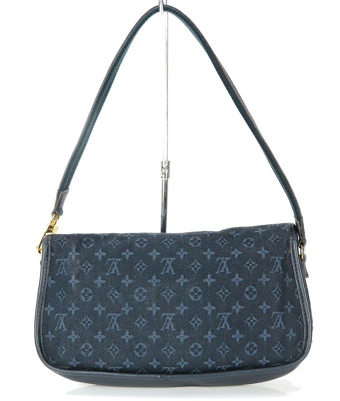 Authentic LOUIS VUITTON Marjorie Blue Monogram Mini Lin Shoulder Bag #34709 image 3