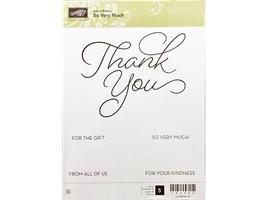 Stampin' Up! So Very Much Wood Mounted Rubber Stamp Set #143340
