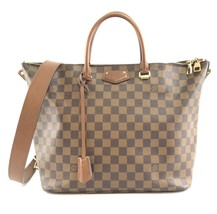 #31503 Louis Vuitton Tote Belmont with Strap Top Zip Zipper Brown Should... - $1,350.00