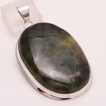 Natural Sea Green Moss Agate Gemstone 925 Sterling Silver Men's Pendant Jewelry - $54.93