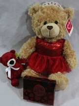 "Valentine's Day Gift Set for Her, 16"" Ballerina & Red Teddy Love Bears C... - $22.95"