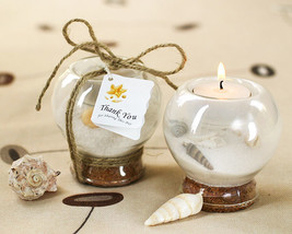 75 Beach Summer Sand Seashell Tealight Candle Holder Bridal Wedding Favor - $179.08