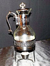 Glass Coffee / Tea Decanter with lid and Warmer (Corning) AA20-CD0069 Vintage
