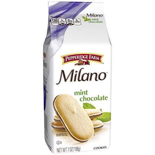 Pepperidge Farm, Milano, Cookies, Mint, 7 Ounce Bag, Pack of 3