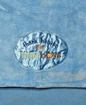 Baby Starters Blue Thank Heaven For Little Boys Monkey Fleece Blanket Lovey SOFT - $20.90