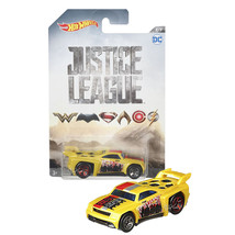 NEW 2017 Hot Wheels 1:64 Die Cast Car DC Justice League Yellow BASSLINE 7/7 - €12,79 EUR