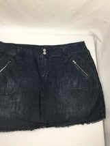 Lanebryant Women Denim Skirt Gotten Dark Wash Above Knee Regular Fit Siz... - $16.82
