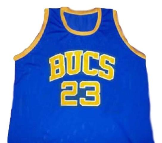Michael jordan  23 bucs laney high school new men basketball jersey blue   1