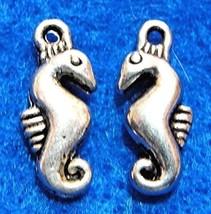20Pcs. Tibetan Silver Tiny 3D Seahorse Charms Pendants Ear Drops Finding... - $18.76