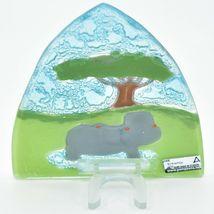 Fused Art Glass Hippopotamus Hippo Nightlight Night Light Handmade in Ecuador image 4