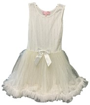 Popatu Girl's Sleeveless With Gold Lines Dress Cream/Gold - $29.99