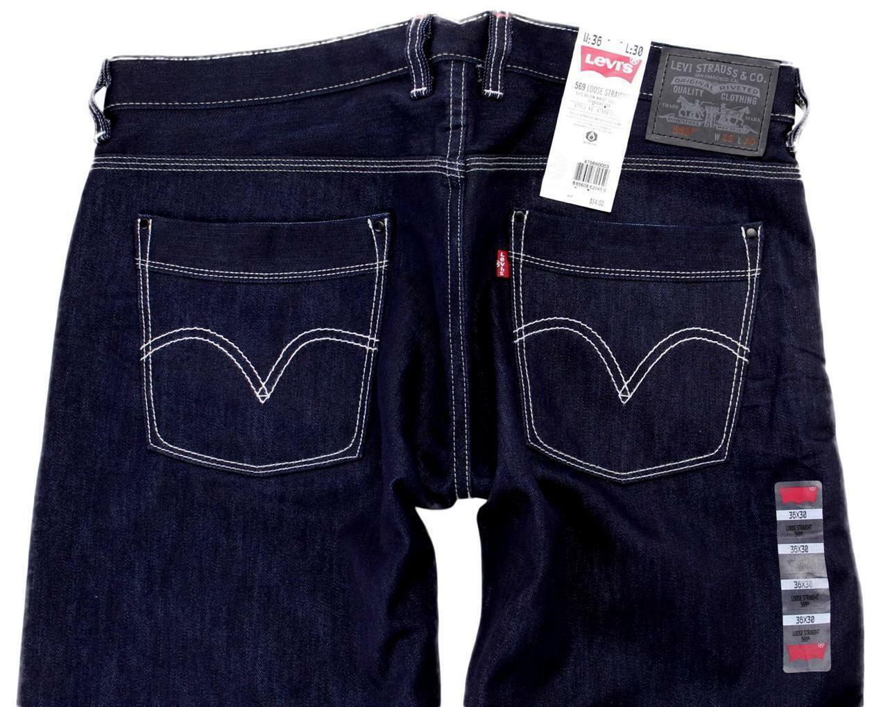 Levi's Strauss 569 Men's Original Loose Fit Straight Leg Jeans 569-0003