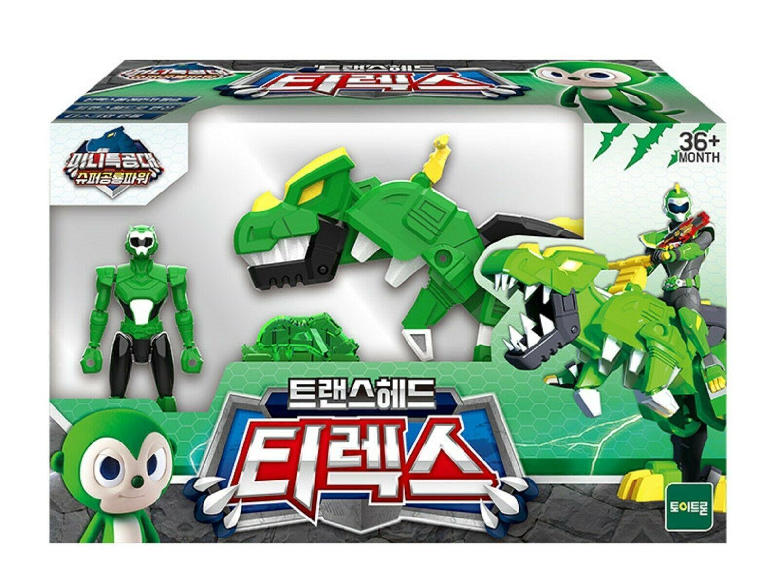 Miniforce Trans Head T-Rex Super Dinosaur Power Action FIgure Toy