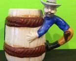 Vintage Takiya Japan Cowboy Coffee Mug Lucky Horseshoe Collectable