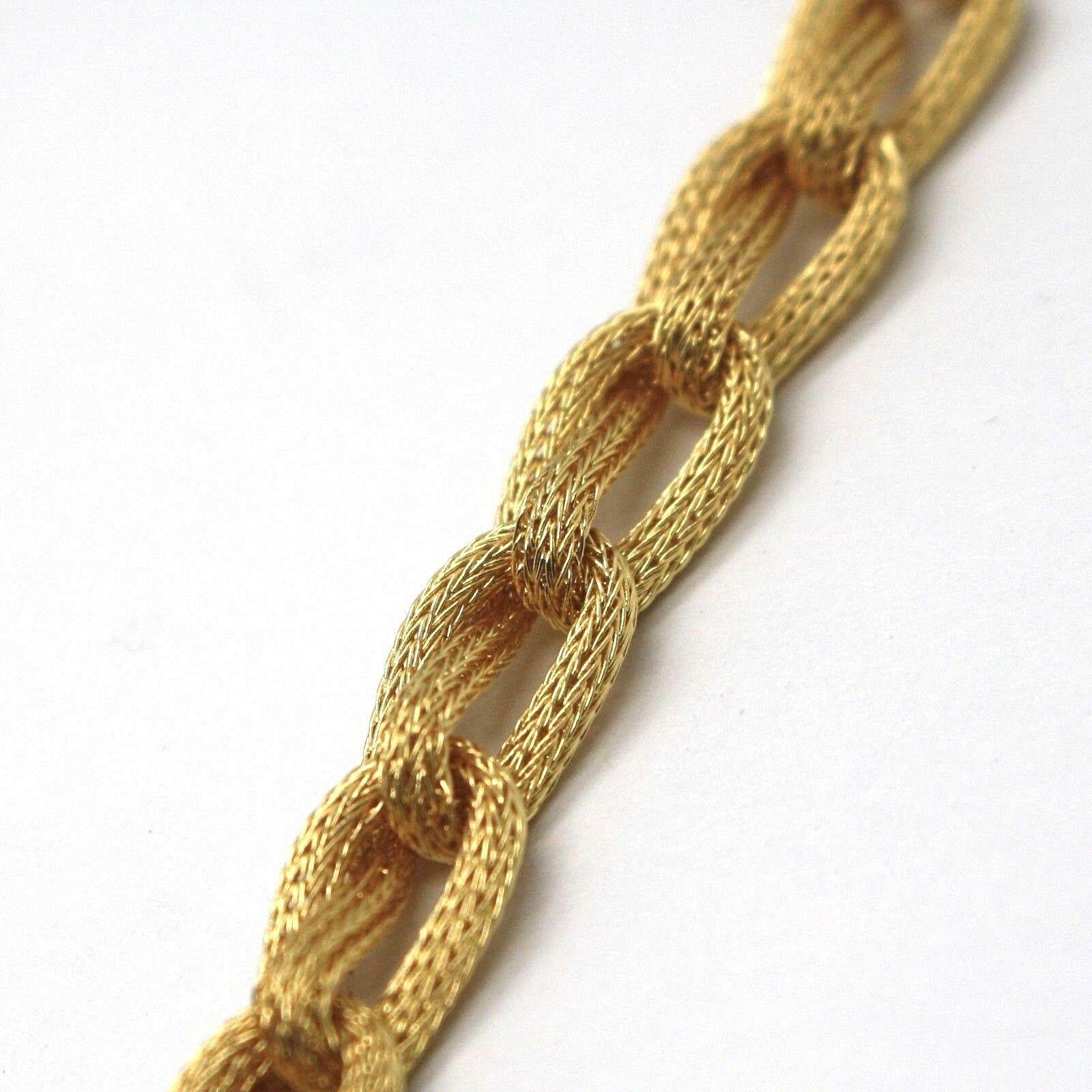 Choker Necklace Yellow Gold 750 18K, Braided, Spiga , Satin, Rope