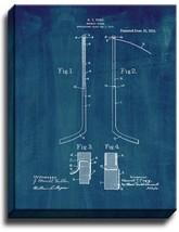 Hockey Stick Patent Print Midnight Blue on Canvas - $39.95+