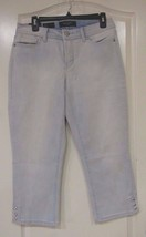 "Nine West Jeans  ""Karen"" Bling Capri Koro Wash (Light Blue) Women's Sz 6... - $25.02"