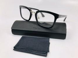 ✴New Prada VPR 09S 1AB-1O1 Black& Gold  Eyeglasses 51mm with Case - $177.75