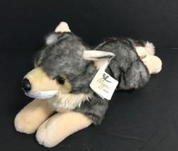 """Aurora World Grey Miyoni Wolf 10871 Plush Stuffed Animal 16"""" - $23.36"""