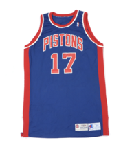 Vtg Champion NBA Detroit Pistons Bill Curley Player Issued Jersey #17 94... - $252.41