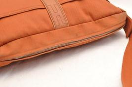 HERMES Acapulco Besace Coton Leather Orange Shoulder Bag Auth 5186 image 6