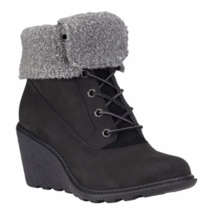 Timberland Women's Amston Black Leather Roll Top Boots 8258A - $1.779,64 MXN
