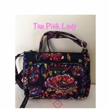 NWT Vera Bradley MIDNIGHT WILDFLOWERS Little Hipster Crossbody Handbag Bag  - $29.99
