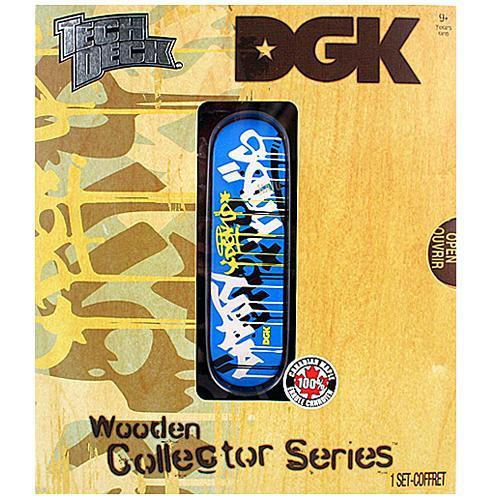 TECH DECK WOODEN COLLECTOR SERIES DGK SKATEBOARDS MARKED DIRTY KIDS FINGERBOARD