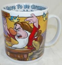 XL DISNEY STORE GRUMPY DWARF COFFEE CUP MUG  -A4 - $22.99