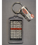 THE RAMONES REPEAT LOGO LUCITE KEYCHAIN - $2.95