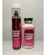 Bath & Body Works Twisted Peppermint Fine Fragrance Mist & Body Lotion B... - $19.79