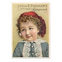 1875 Lydia Estes Pinkham Vegetable Compound Medicine Company Trade Card - $14.00