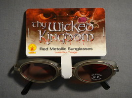 THY WICKED KINGDOM RED METALLIC SUNGLASSES HALLOWEEN COSTUME ACCESSORY NEW - $4.79