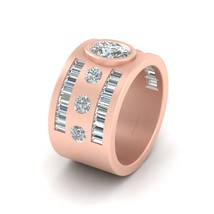 Classic Engagement Band In Solid 10k Rose Gold Bridal Jewelry Eternity Ring Band - $2,719.99
